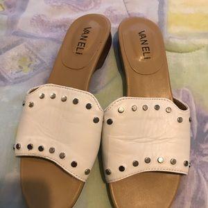 Ladies white leather Van Eli  women's shoes